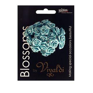 Ribbon Rose 20 Head Turquoise