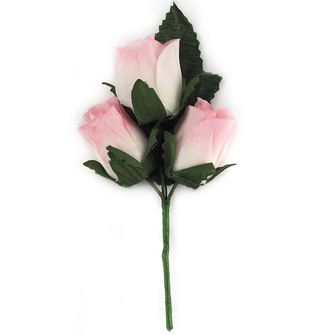 Closed Rose Head 30mm Pink 3Pcs