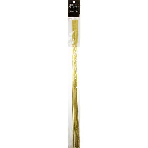 Floral Stem Wire 22 Gauge Gold 35Pcs