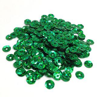 Sequins 6mm Laser Cup Green 35g