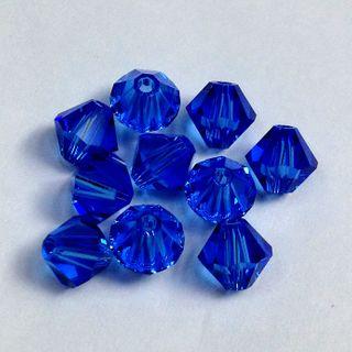 Swarovski Crystals 4mm Sapphire 30 Pcs