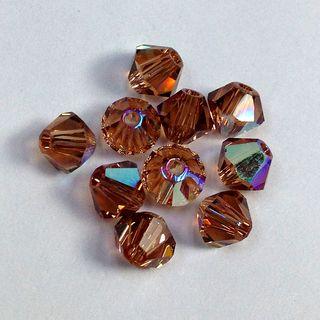 Swarovski Crystals 4mm Topaz AB 30 Pcs