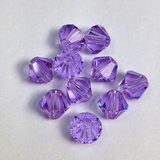 Swarovski Crystals 4mm Violet 30 Pcs