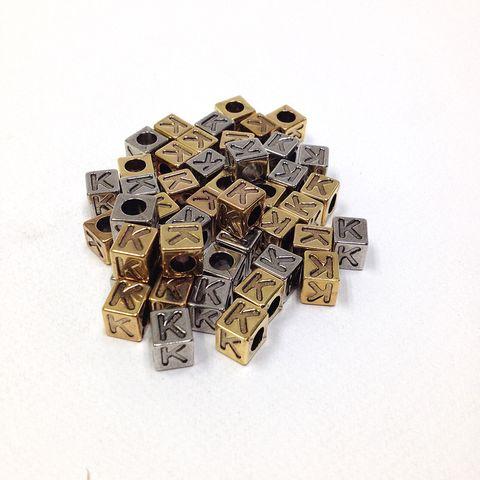 Alphabet Beads Block Gold/Silver K