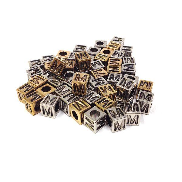 Alphabet Beads Block Gold/Silver M