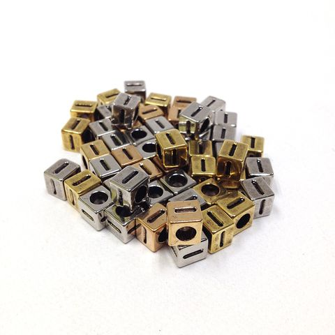 Alphabet Beads Block Gold/Silver I