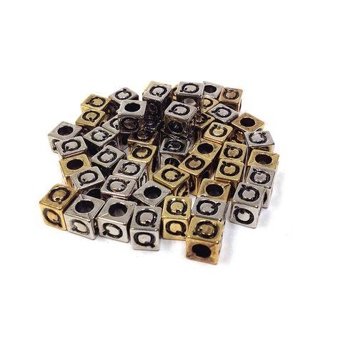 Alphabet Beads Block Gold/Silver Q