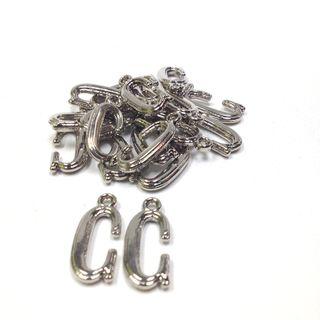 Alphabet Beads C Silver Pendant Pkt 144
