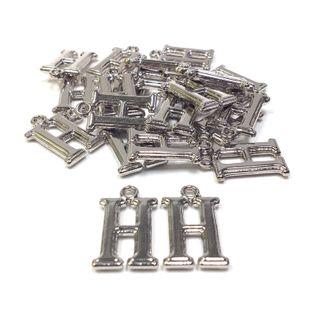 Alphabet Beads H Silver Pendant Pkt 144