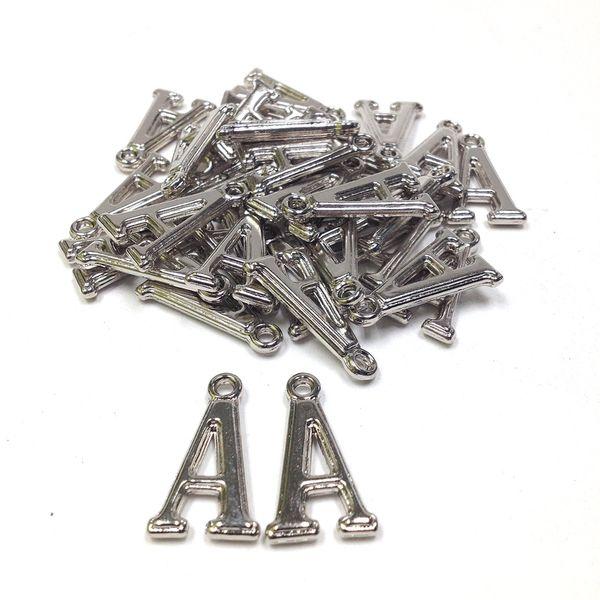 Alphabet Beads A Silver Pendant Pkt 144