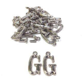 Alphabet Beads G Silver Pendant Pkt 2
