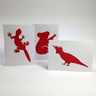 Aus Series Card C/O Koala/Cocka/Liz Pkt3
