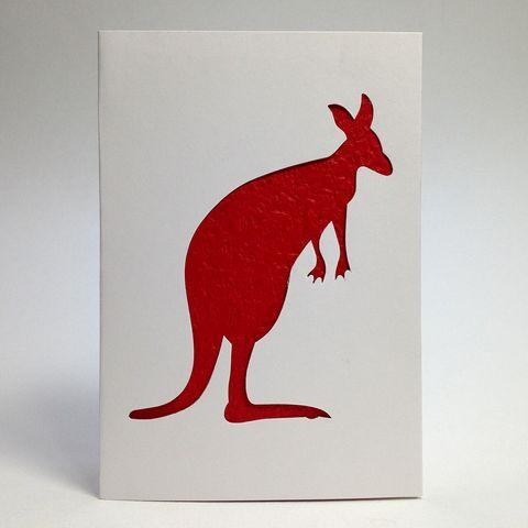 Aus Series Card Cut-Out Kangaroo Pkt 1