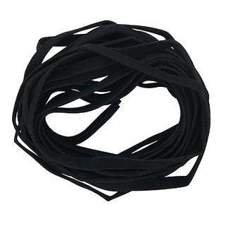 Suede Thonging 5mm Black 5m