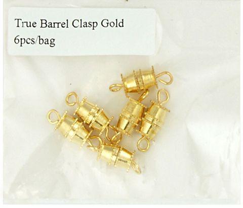 Clasp Barrel True 15mm Gold 6Pcs
