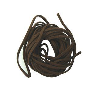 Suede Thonging 2mm Dark Brown 4m