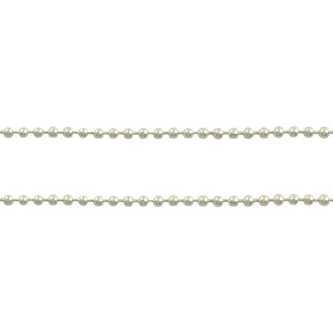 Chain Ball with Ends Bright Silver 1m