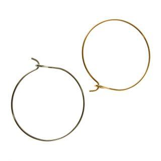 Bracelet Solid Silver/Gold 2Pcs