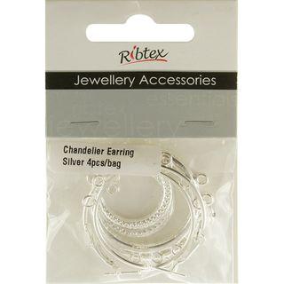 Chandelier Earrings Silver 2 Sets