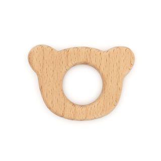 Wood Shape Bear Head 1Pc