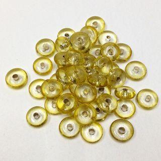 Glass Bds 3x9mm Pale Gold Pkt 50