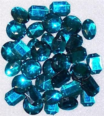 Gems Sew-On Asst Sizes Jade Pkt40