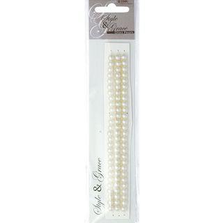 Bead Glass Pearls 6Mm Ivory 81Pcs