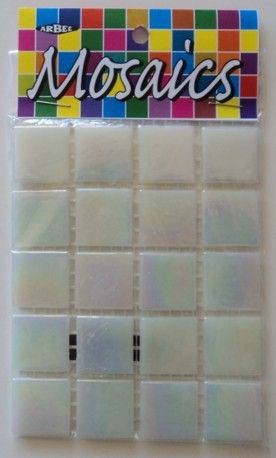 Glass Tiles 20x20mm Pearl Pkt 60