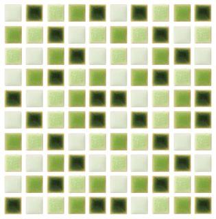 Ceramic Tiles 10x10mm Greens Pkt 100