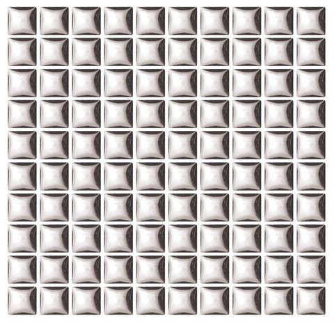 Ceramic Tiles 10x10mm Silver Met Pkt 100