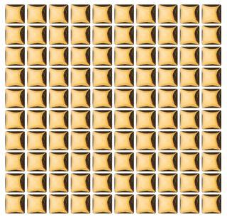 Ceramic Tiles 10x10mm Gold Met Pkt 100