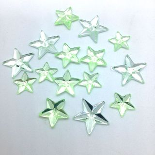 Jewels Stars Pale Green Pkt 15