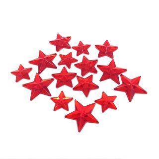 Jewels Stars Ruby Pkt 15