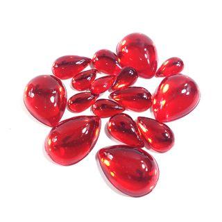 Jewels Drop Ruby Pkt 15