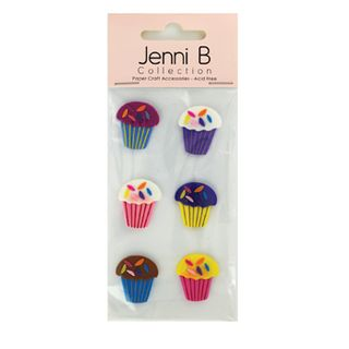 Stickers Cup Cakes 6Pcs