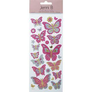Jenni B Glitter Sticker Butterfly Each