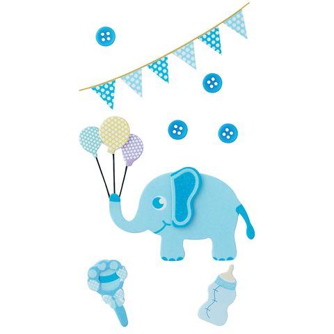Jenni B Baby Elephant Blue 8Pcs