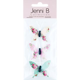 Jenni B Butterfly Paper Floral 3Pcs