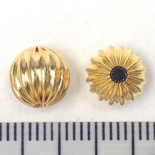Spacer Beads Gold 8mm Pkt 50