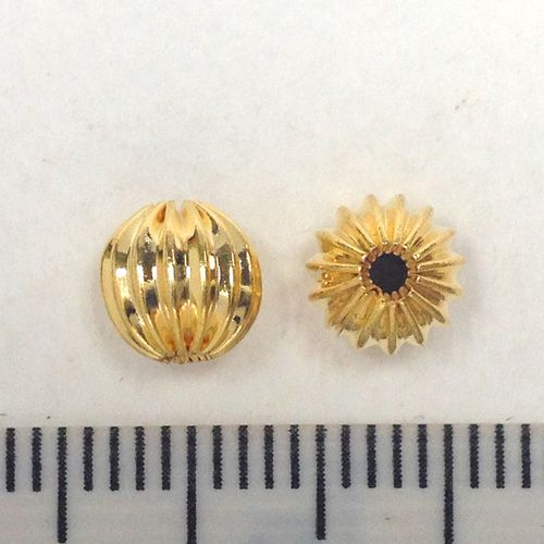 Spacer Beads Gold 6mm Pkt 8