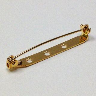 Brooch Backs 35mm Gold Pkt 5