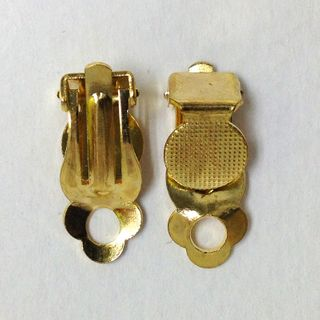 Clip-On Earring 6mm Gold Pkt 6