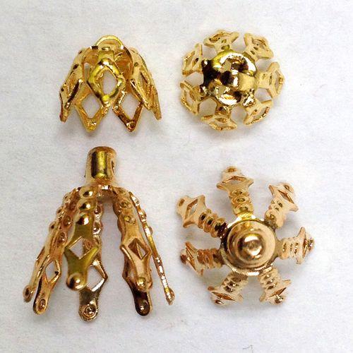Bell Caps Gold Pkt 4