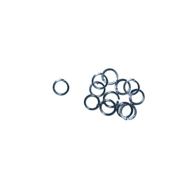 Jump Rings 4mm Antique Silver 40Pcs