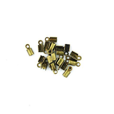 Leather Clamp 10mm Boho Gold 20Pcs
