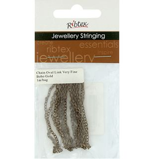 Chain Straight Oval Link 3x2mm Gold 1m