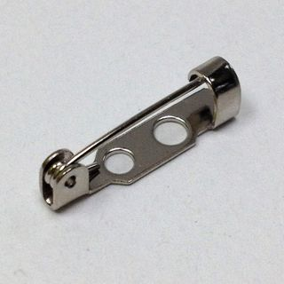 Brooch Backs 20mm Silver Pkt 3