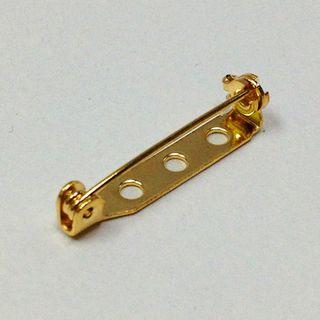 Brooch Backs 25mm Gold Pkt 3