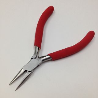 Chain Nose Jewellery Pliers Silver/Red