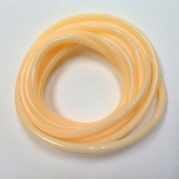 Plastic Tubing 4mm Cream 2m